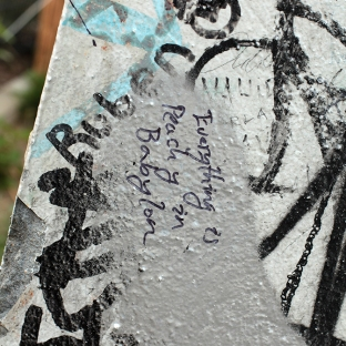 Asher Mains's tag on the Berlin Wall
