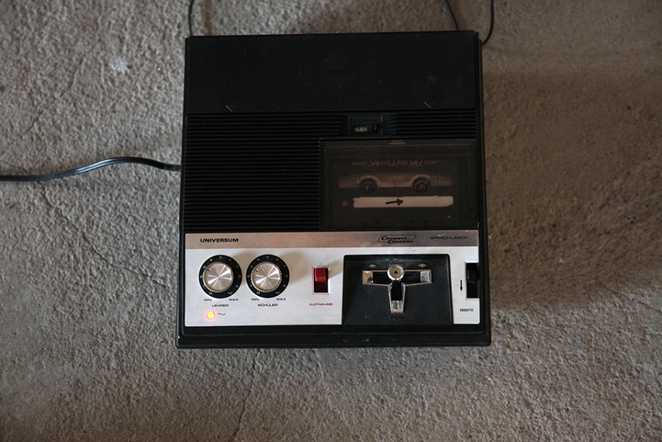 cassette deck with joystick