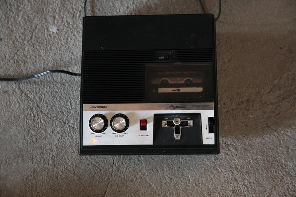 cassette deck with joystick