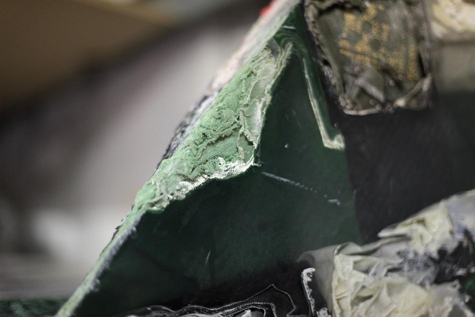 green fabric