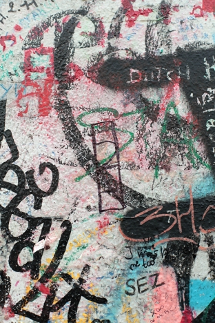 Lindey Anderson's tag on the Berlin Wall