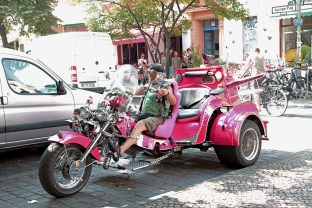 Pink Skull Bike