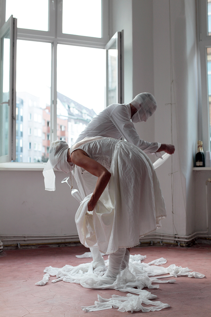 unraveling the marriage cocoon performance by Mariana Rocha and José Drummond