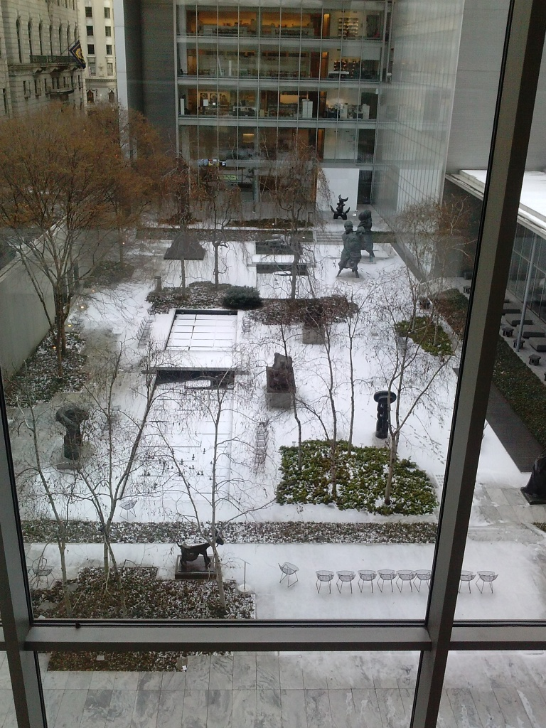 MoMa Courtyard in the Snow