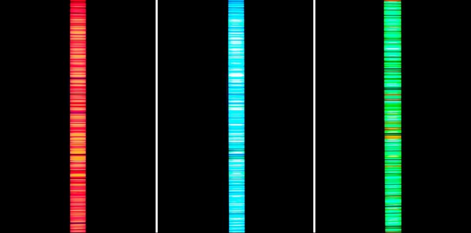 Colour Code triptych