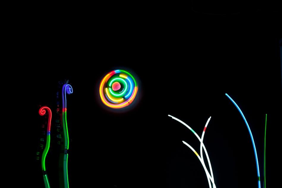 Sharon Keshishian's neon landscape