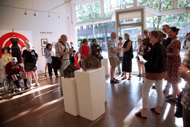 (right) Gallery Manager, Betsy Fetherston and Jurors Florangela Davila (Managing Editor, Crosscut), Bill Gaylord (Artist/Architect, Director, Bonfire Gallery) and John Sutton (Artist, SuttonBeresCuller)