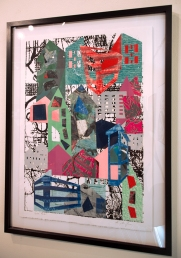 "screenprint/ monoprint / collage by Abbie Birmingham, entitled ""South Park"" featured in the All Member Review"