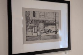 "etching by Valerie Schurman, entitled ""Chanel 1"""